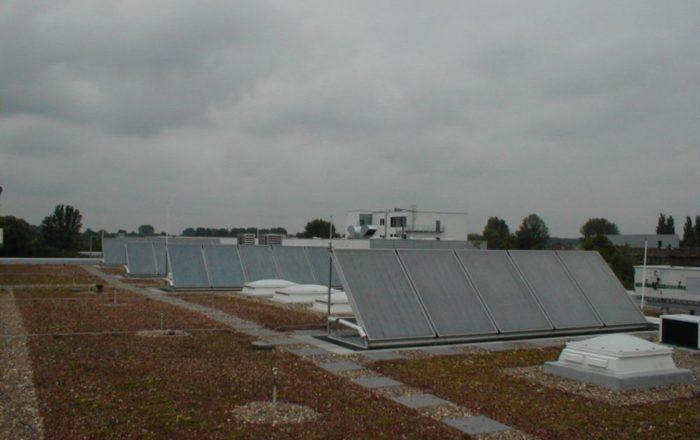 Kollektoranlage für Industrienutzung