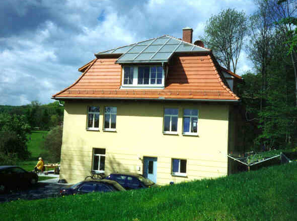 Kollektoranlage Sonderfertigung mit Dachanpassung